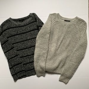 2 - FOREVER 21 Grey Comfy Sweaters